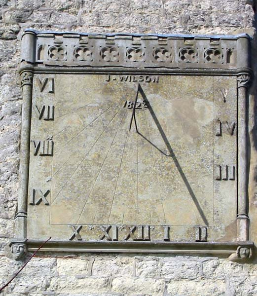 Sundial on Church